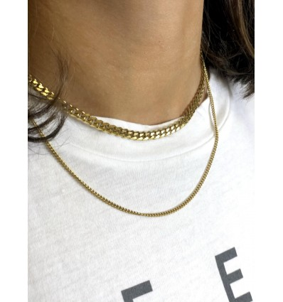 COLLAR CADENA BARBADA DOBLE